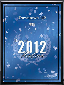 Best of Hudson wine award